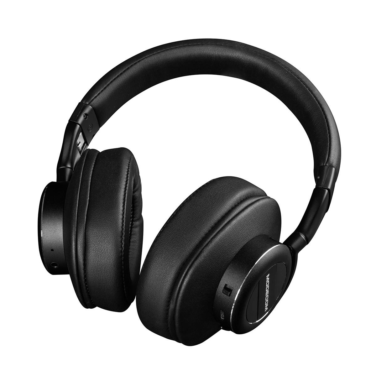 Modecom S-MC-1001HF hoofdtelefoon/headset Hoofdtelefoons Hoofdband 3,5mm-connector Bluetooth Zwart