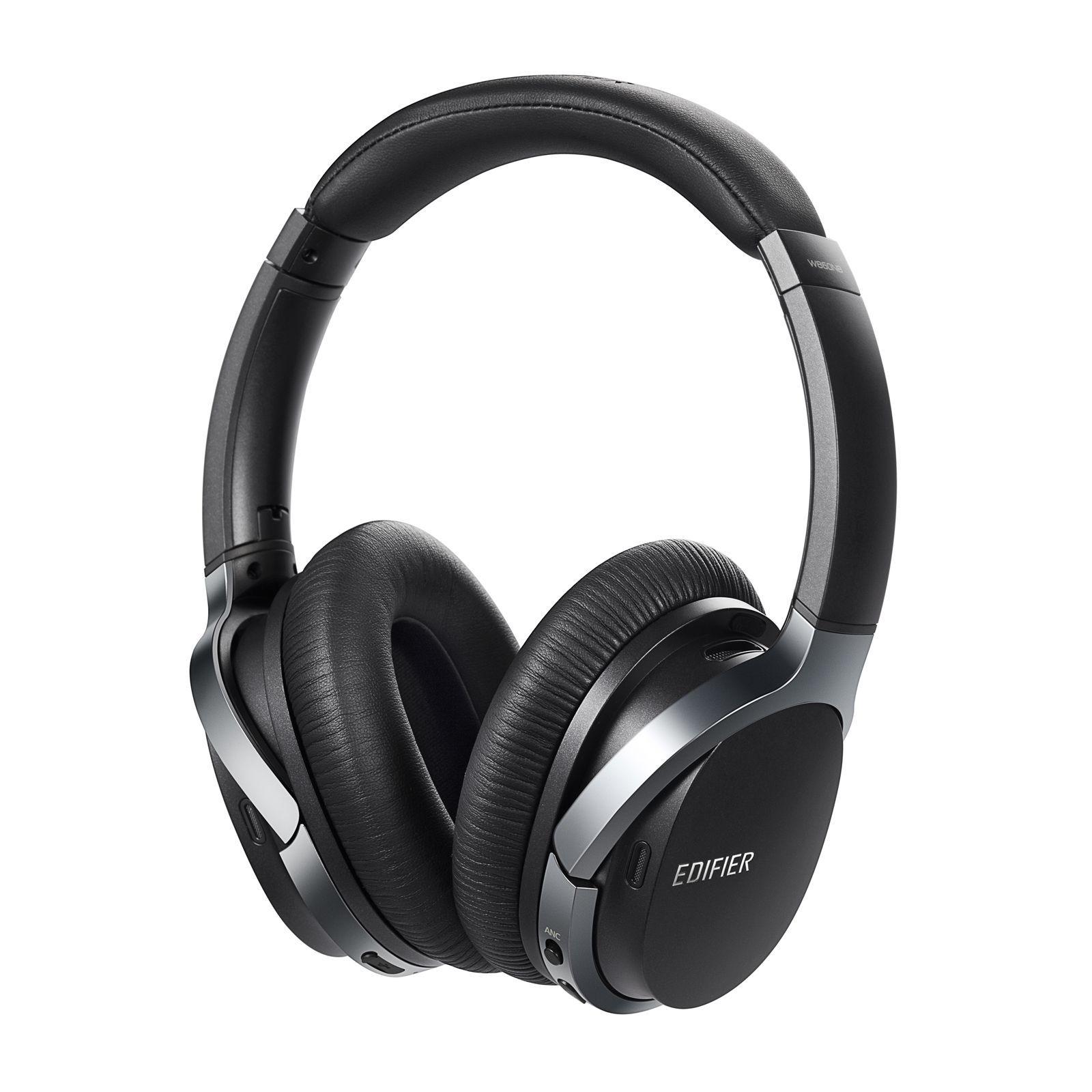 Edifier W860NB Headset Hoofdband 3,5mm-connector Bluetooth Zwart, Zilver