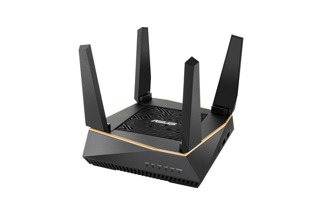 ASUS AiMesh AX6100 draadloze router Gigabit Ethernet Tri-band (2.4 GHz / 5 GHz / 5 GHz) Zwart