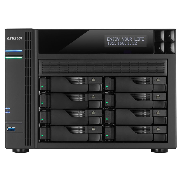 Asustor AS-7008T data-opslag-server i3-4330 Ethernet LAN Zwart, Grijs NAS