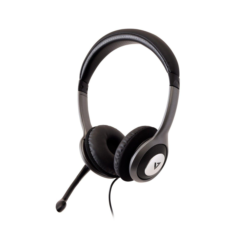 V7 HU521-2EP hoofdtelefoon/headset Hoofdband Zwart, Zilver