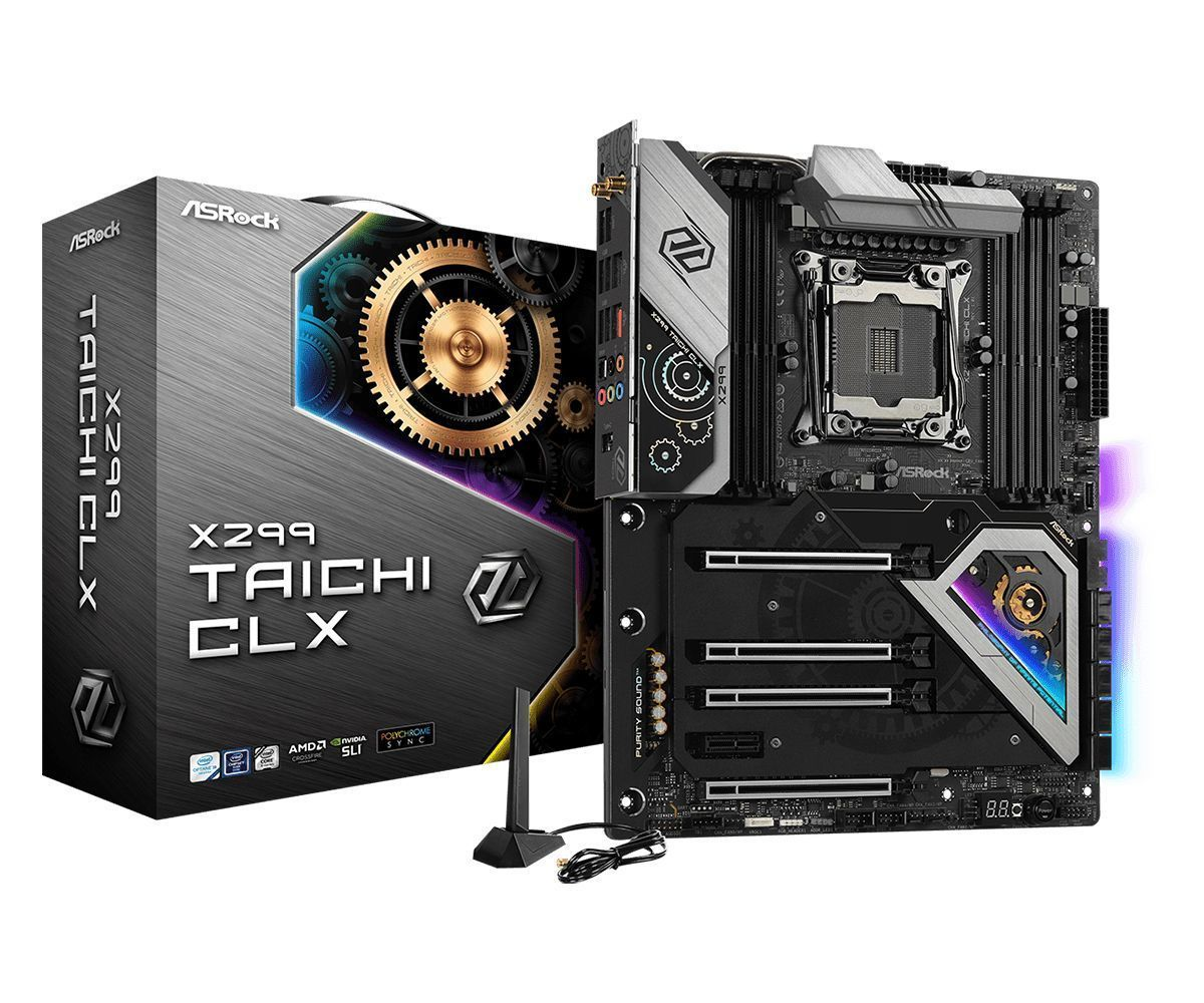 Asrock X299 Taichi CLX Intel® X299 LGA 2066 (Socket R4) ATX