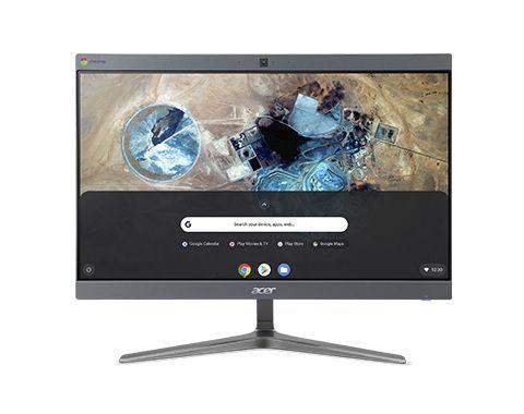 """Acer Chromebase CA24I2 i5 Touch Enterprise Edition 60,5 cm (23.8"""") 1920 x 1080 Pixels Intel® 8de generatie Core™ i5 8 GB DDR4-SDRAM 128 GB SSD Chrome OS Wi-Fi 5 (802.11ac) Alles-in-één-pc Grijs"""