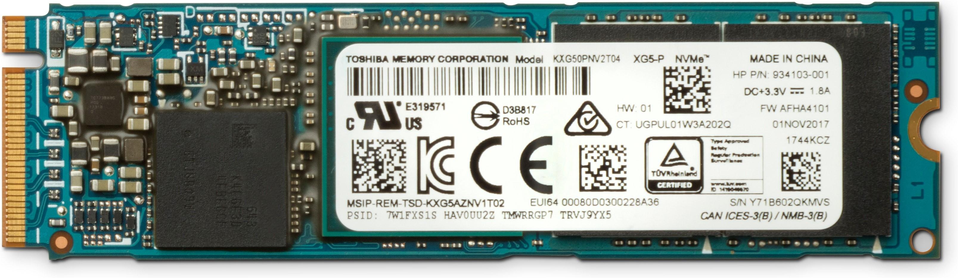 HP Z Turbo Drive Quad Pro M.2 1000 GB PCI Express 3.0 TLC