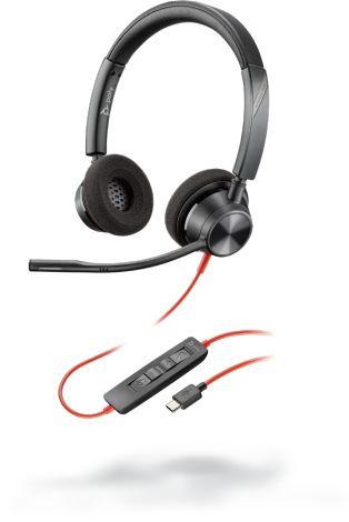 POLY 3320 Headset Hoofdband USB Type-C Zwart