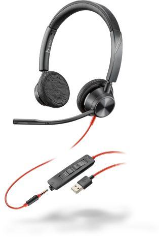 POLY 3325 Headset Hoofdband 3,5mm-connector USB Type-A Zwart