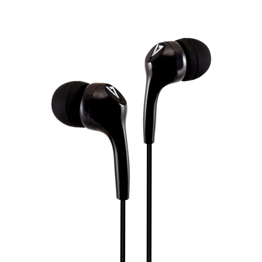 V7 HA105-3EB hoofdtelefoon/headset In-ear 3,5mm-connector Zwart