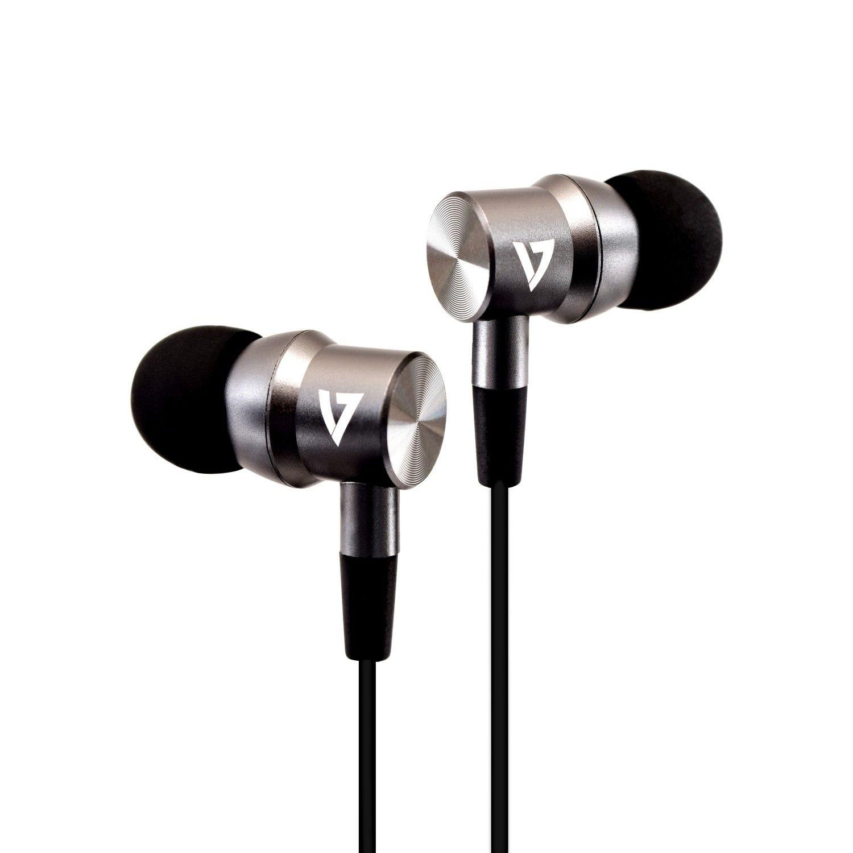 V7 HA111-3EB hoofdtelefoon/headset In-ear 3,5mm-connector Zilver