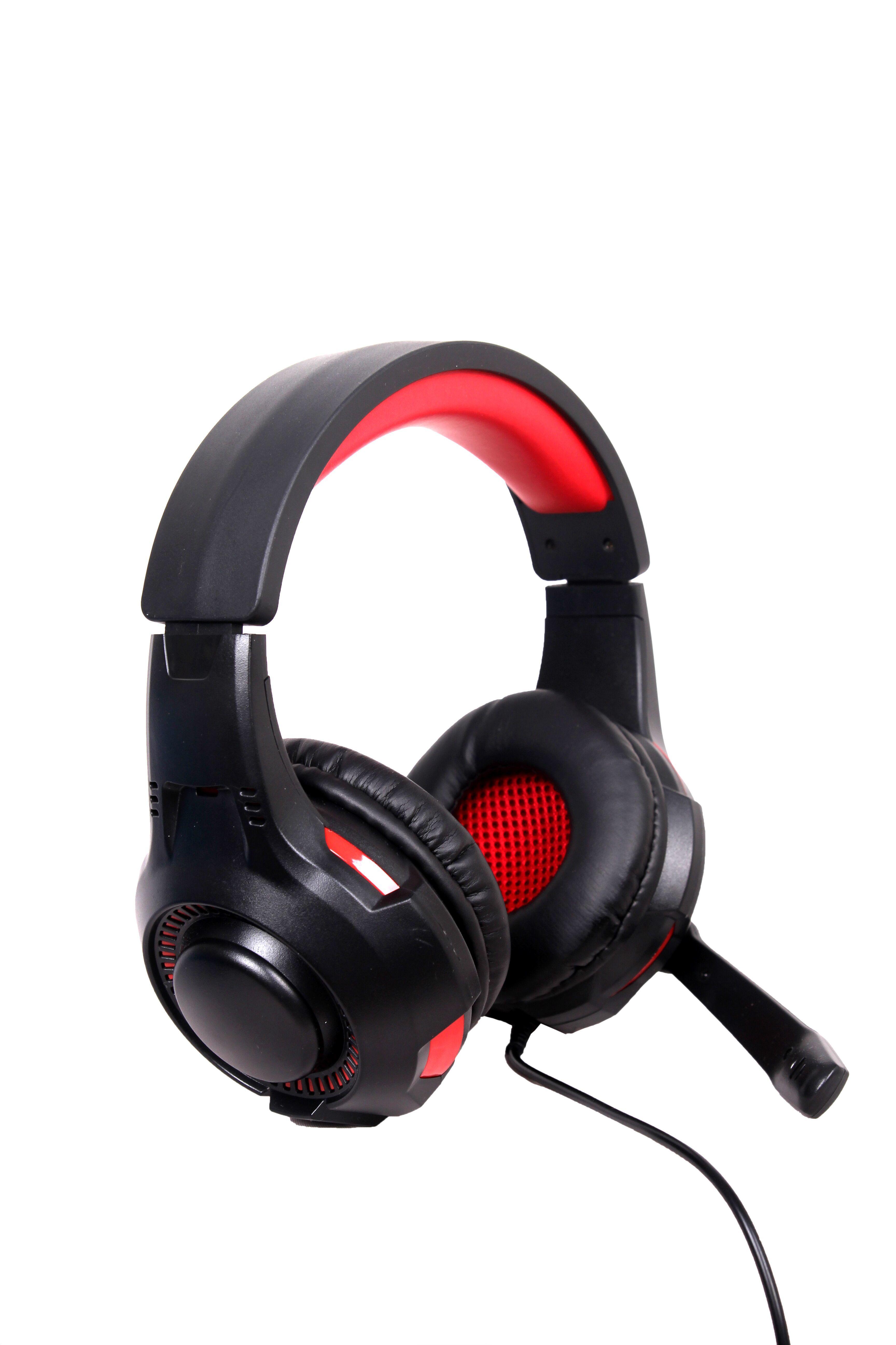 Gembird GHS-U-5.1-01 hoofdtelefoon/headset Hoofdband Zwart, Rood