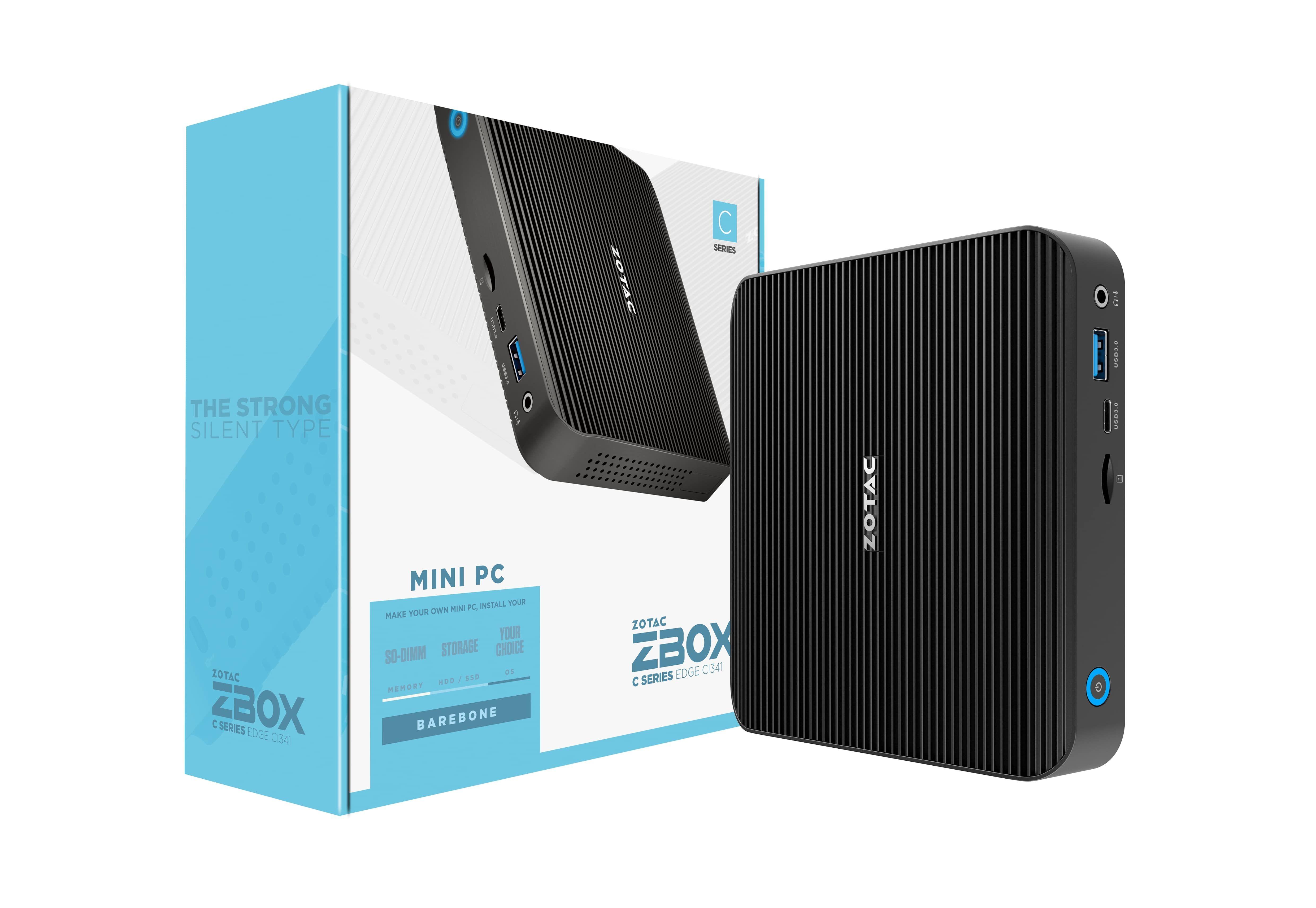 Zotac ZBOX CI341 N4100 1,1 GHz 0,69L maat pc Zwart BGA 1090
