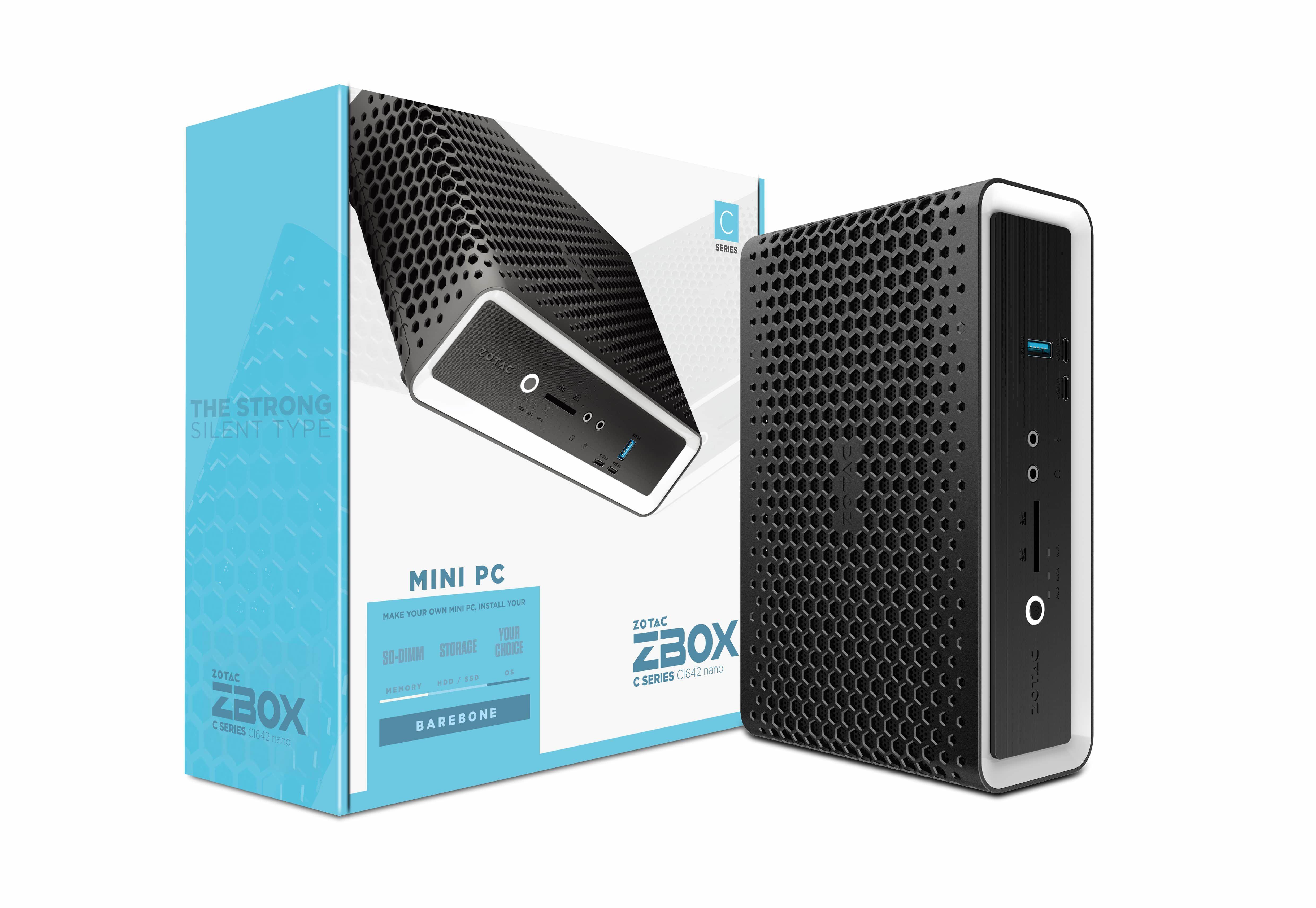 Zotac ZBOX CI642 nano 1,8L maat pc Zwart BGA 1528 i5-10210U 1,6 GHz