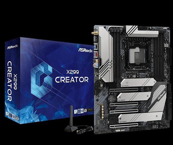 Asrock X299 Creator Intel® X299 LGA 2066 (Socket R4) ATX