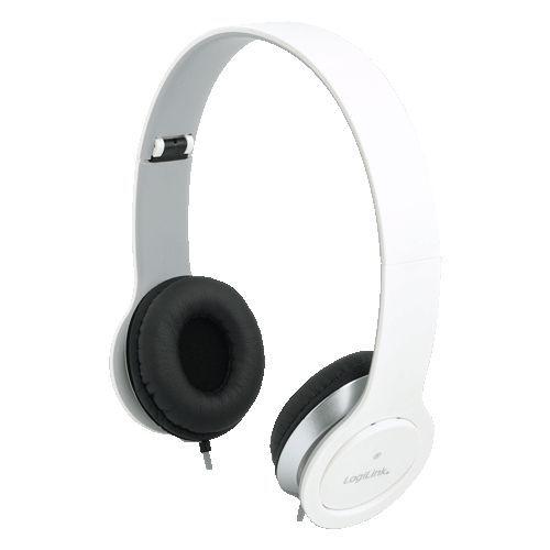 LogiLink HS0029 hoofdtelefoon/headset Hoofdband 3,5mm-connector Wit