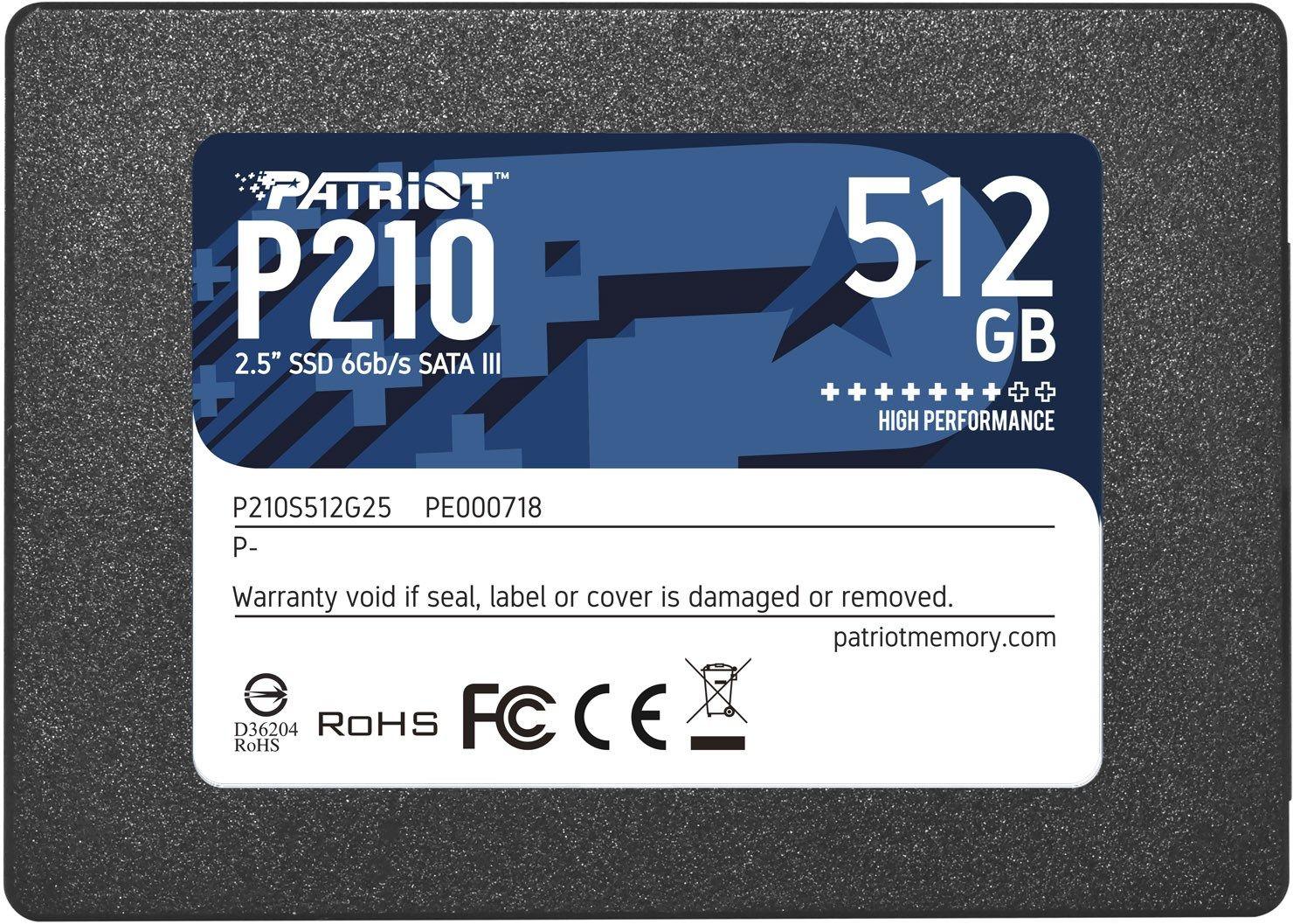"Patriot Memory P210 2.5"" 512 GB SATA III"