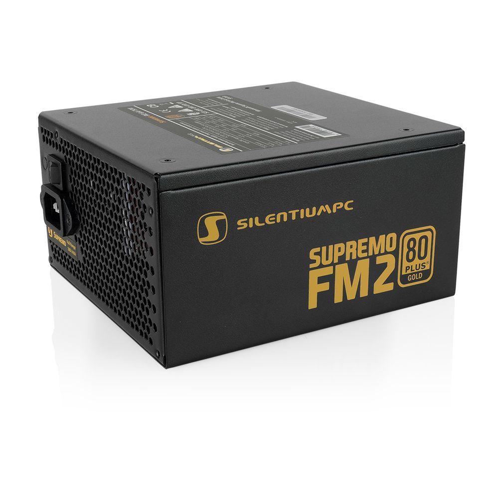 SilentiumPC Supremo FM2 Gold power supply unit 750 W 24-pin ATX ATX Zwart