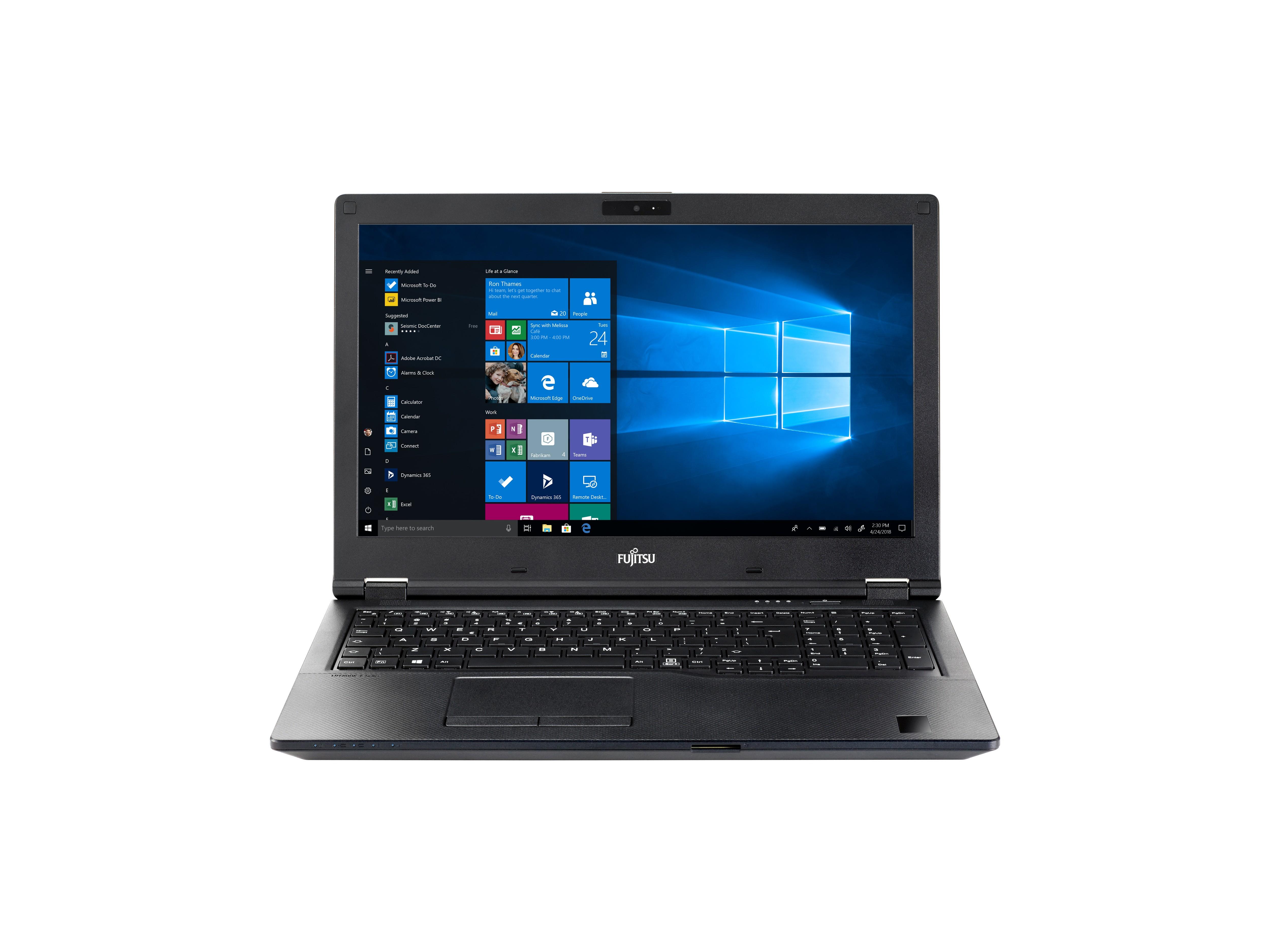 "Fujitsu LIFEBOOK E5510 Notebook 39,6 cm (15.6"") Full HD Intel® 10de generatie Core™ i5 8 GB DDR4-SDRAM 256 GB SSD Wi-Fi 6 (802.11ax) Windows 10 Pro Zwart"