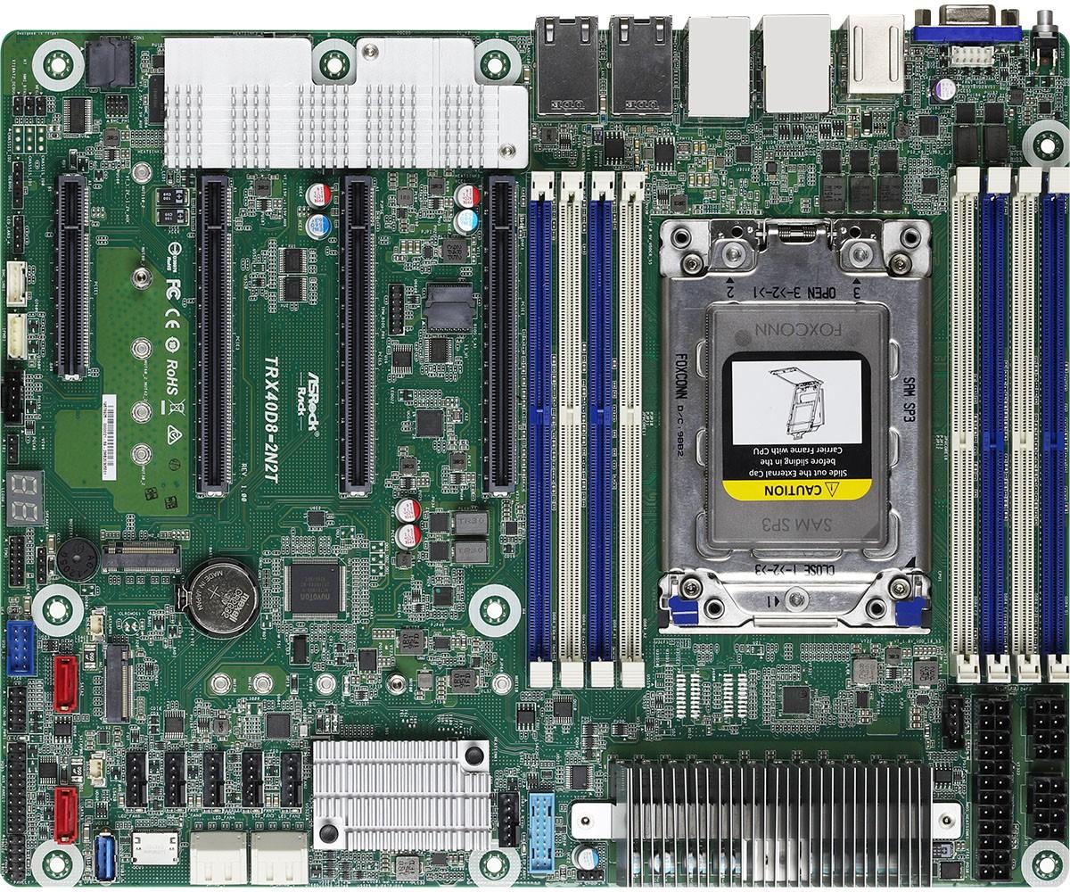 Asrock TRX40D8-2N2T moederbord AMD TRX40 Socket TR4 ATX