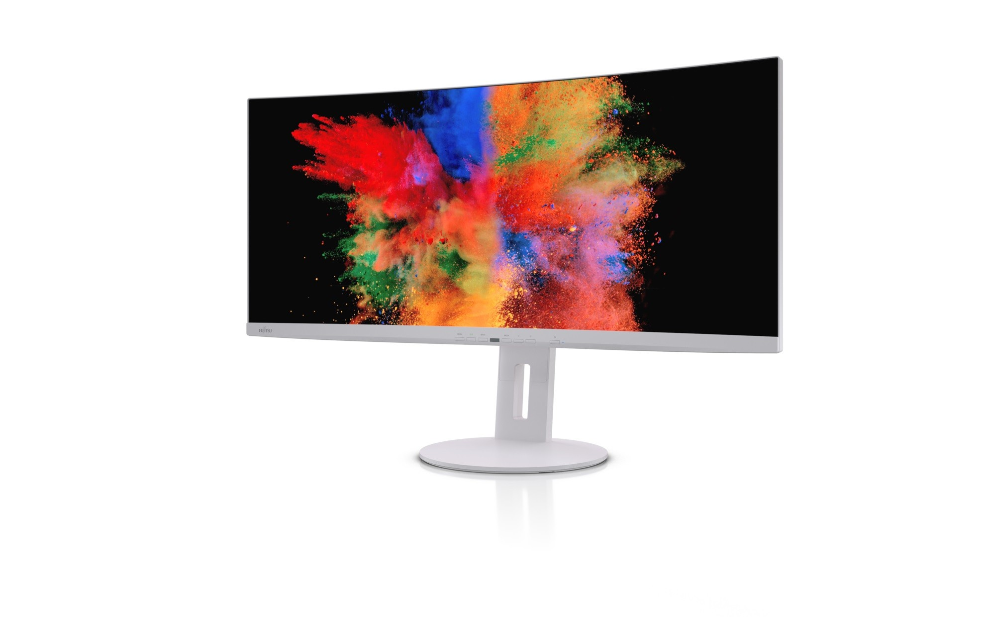"""Fujitsu Displays P34-9 UE Curved 86,6 cm (34.1"""") 3440 x 1440 Pixels UltraWide Quad HD LED Marble Grey, Incl. integrated USB-C Portreplicator with power delivery & KVM function"""