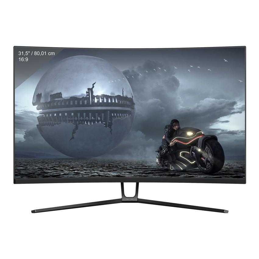 "LC-Power LC-M32-QHD-144-C-V2 computer monitor 80 cm (31.5"") 2560 x 1440 Pixels Quad HD Zwart"
