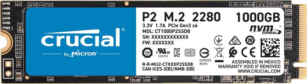 Crucial P2 M.2 1000 GB PCI Express 3.0 3D NAND NVMe