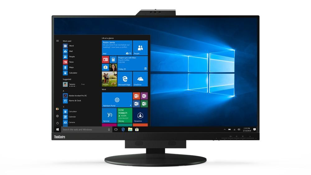 "Lenovo ThinkCentre Tiny-In-One 27 68,6 cm (27"") 2560 x 1440 Pixels Quad HD LED Zwart"