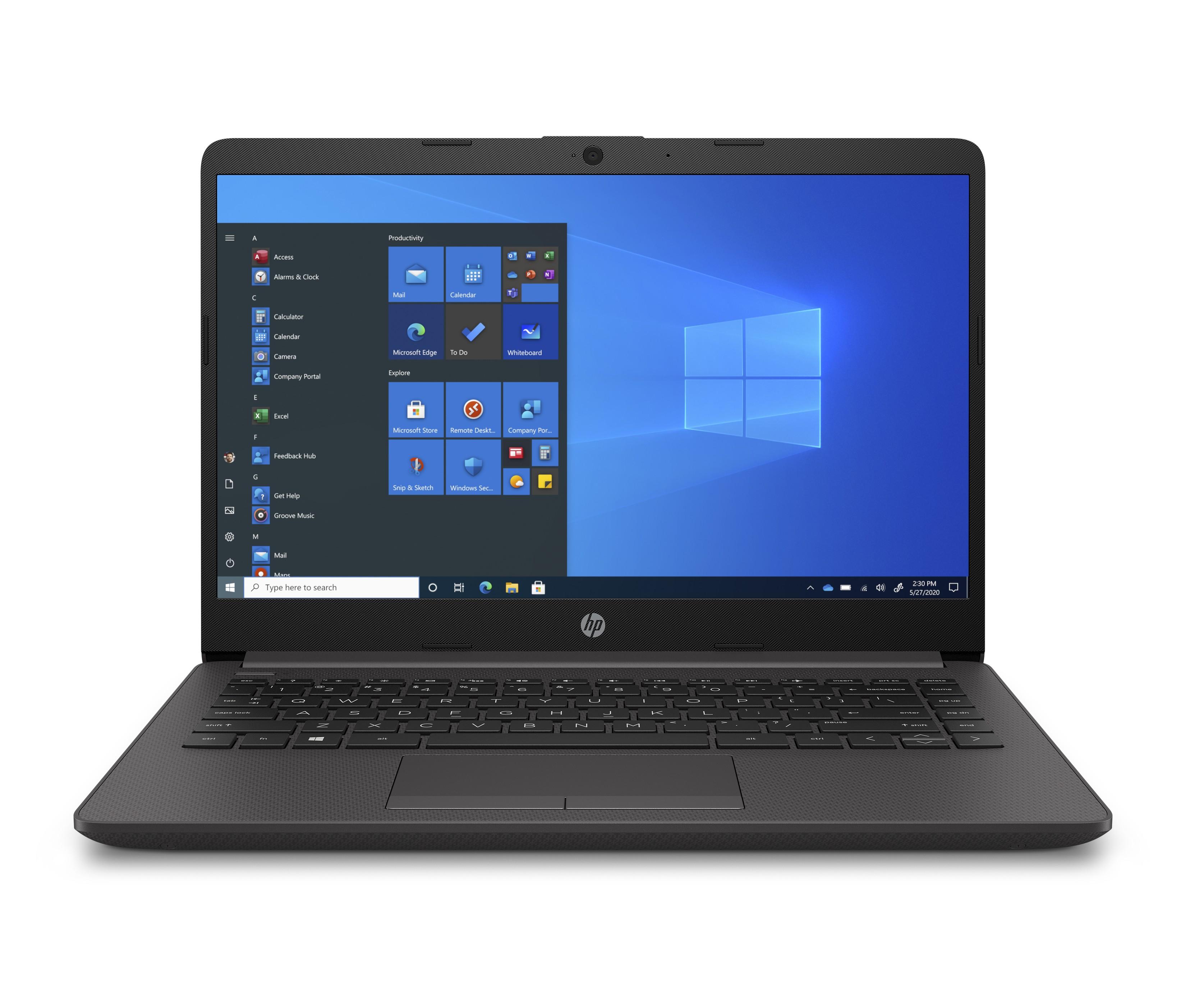 """HP 240 G8 Notebook 35,6 cm (14"""") Full HD Intel® 10de generatie Core™ i3 8 GB DDR4-SDRAM 128 GB SSD Wi-Fi 6 (802.11ax) Windows 10 Pro Zwart"""