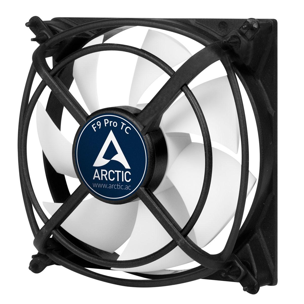ARCTIC F9 Pro TC Computer behuizing Ventilator 9,2 cm Zwart, Wit
