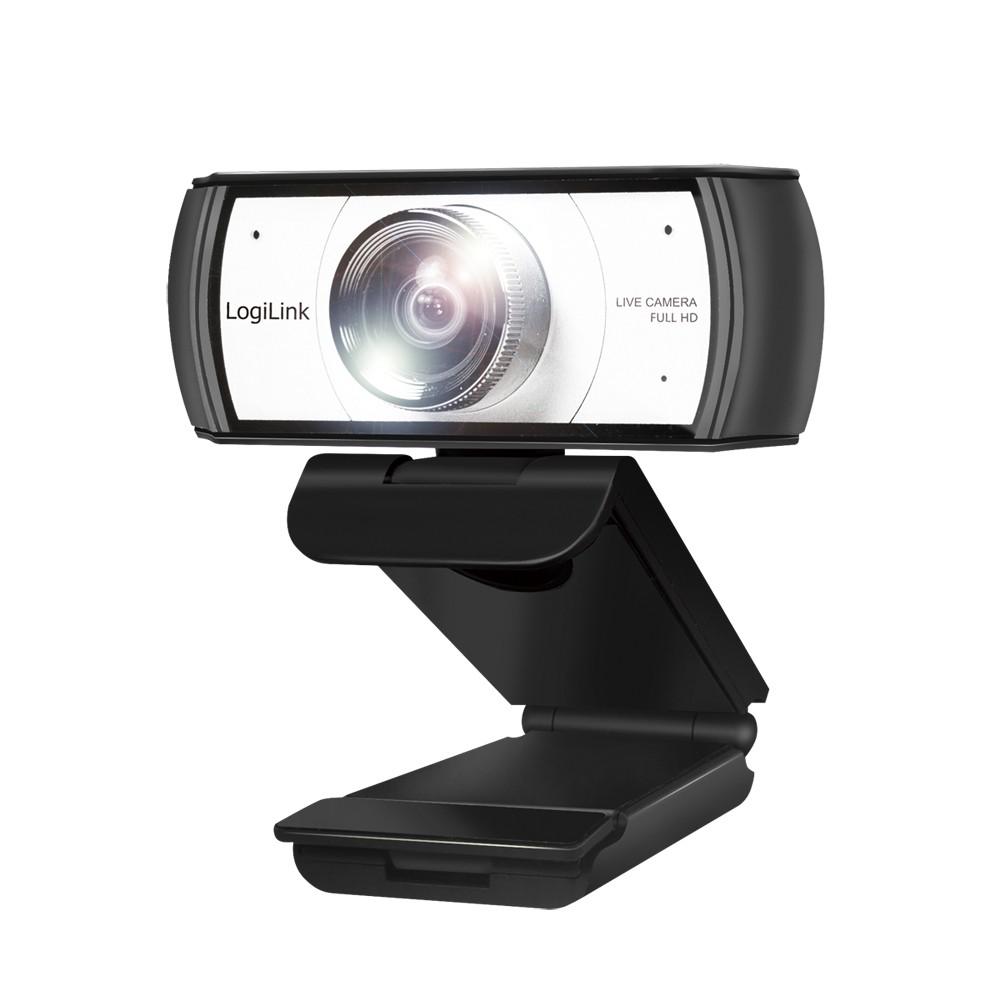 LogiLink UA0377 webcam 2 MP 1920 x 1080 Pixels USB 2.0 Zwart, Zilver