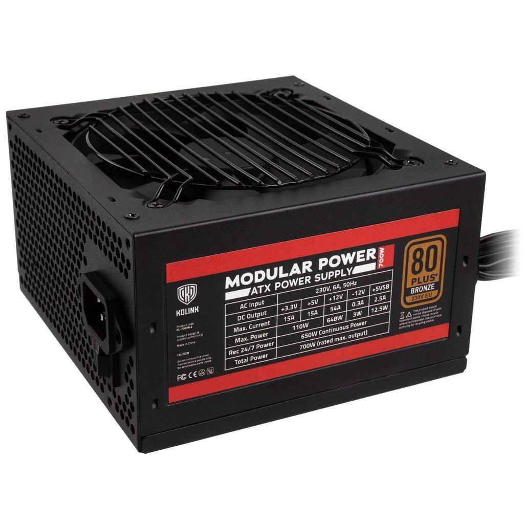 Kolink KL-700MV2 power supply unit 650 W 20+4 pin ATX ATX Zwart