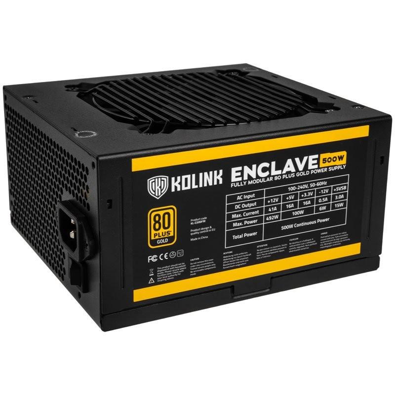 Kolink KL-G500FM power supply unit 500 W 20+4 pin ATX ATX Zwart