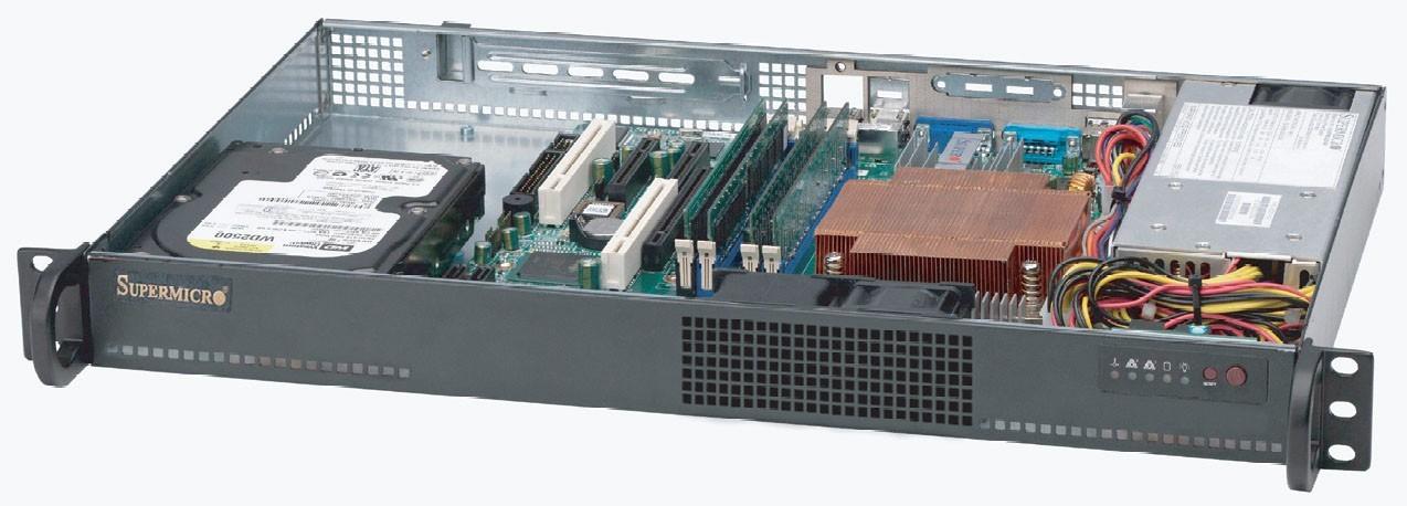 Supermicro CSE-510L-200B computerbehuizing Rack Zwart 200 W