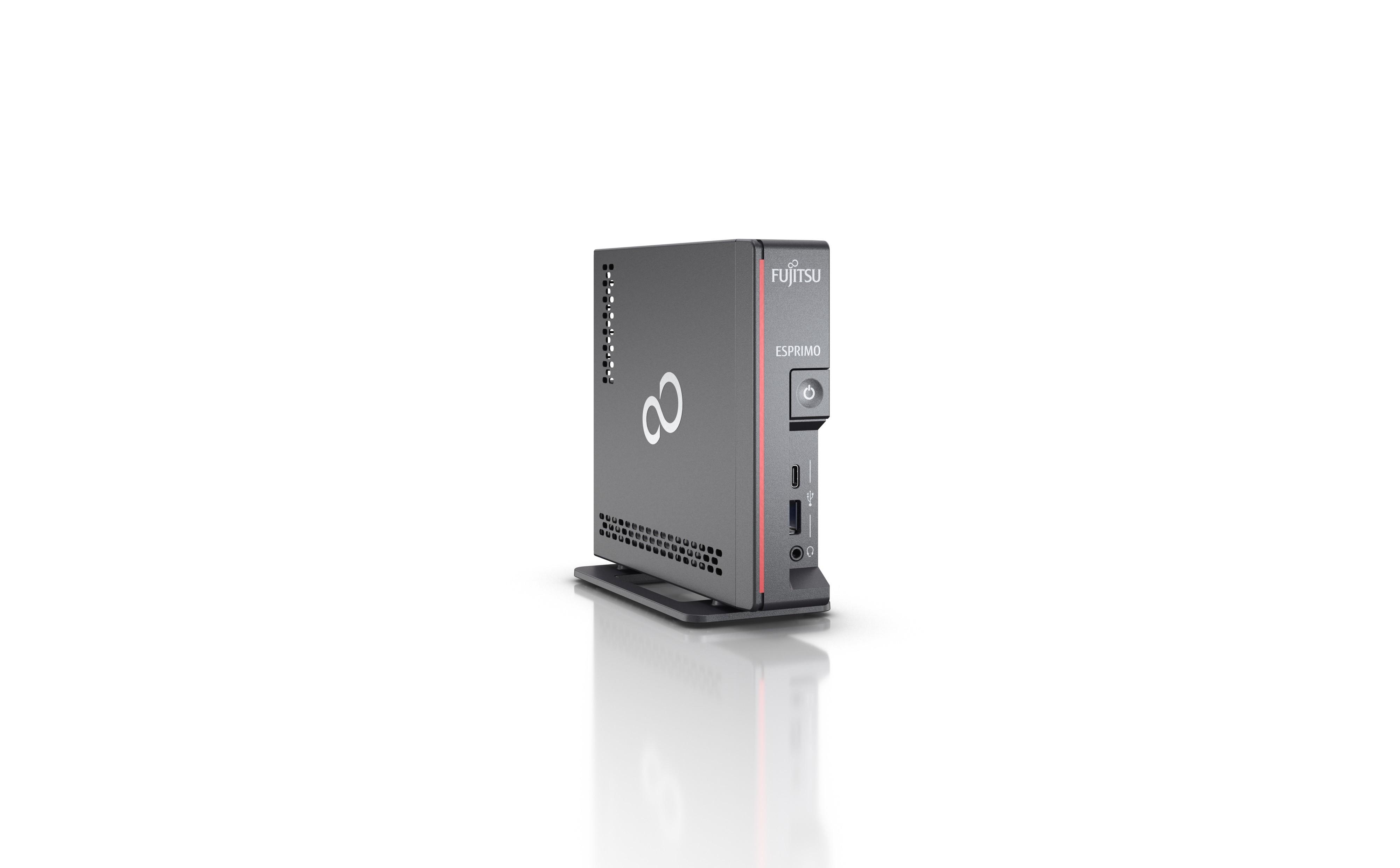 Fujitsu ESPRIMO G5010 i5-10400T mini PC Intel® 10de generatie Core™ i5 8 GB DDR4-SDRAM 256 GB SSD Windows 10 Pro Zwart