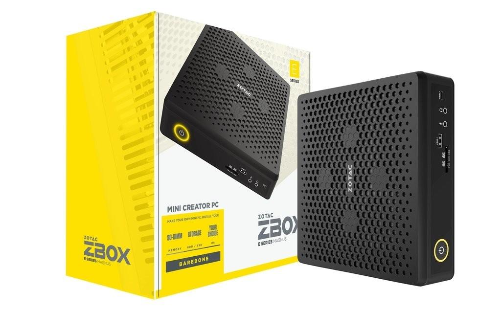 Zotac ZBOX EN072070S Zwart i7-10750H 2,6 GHz