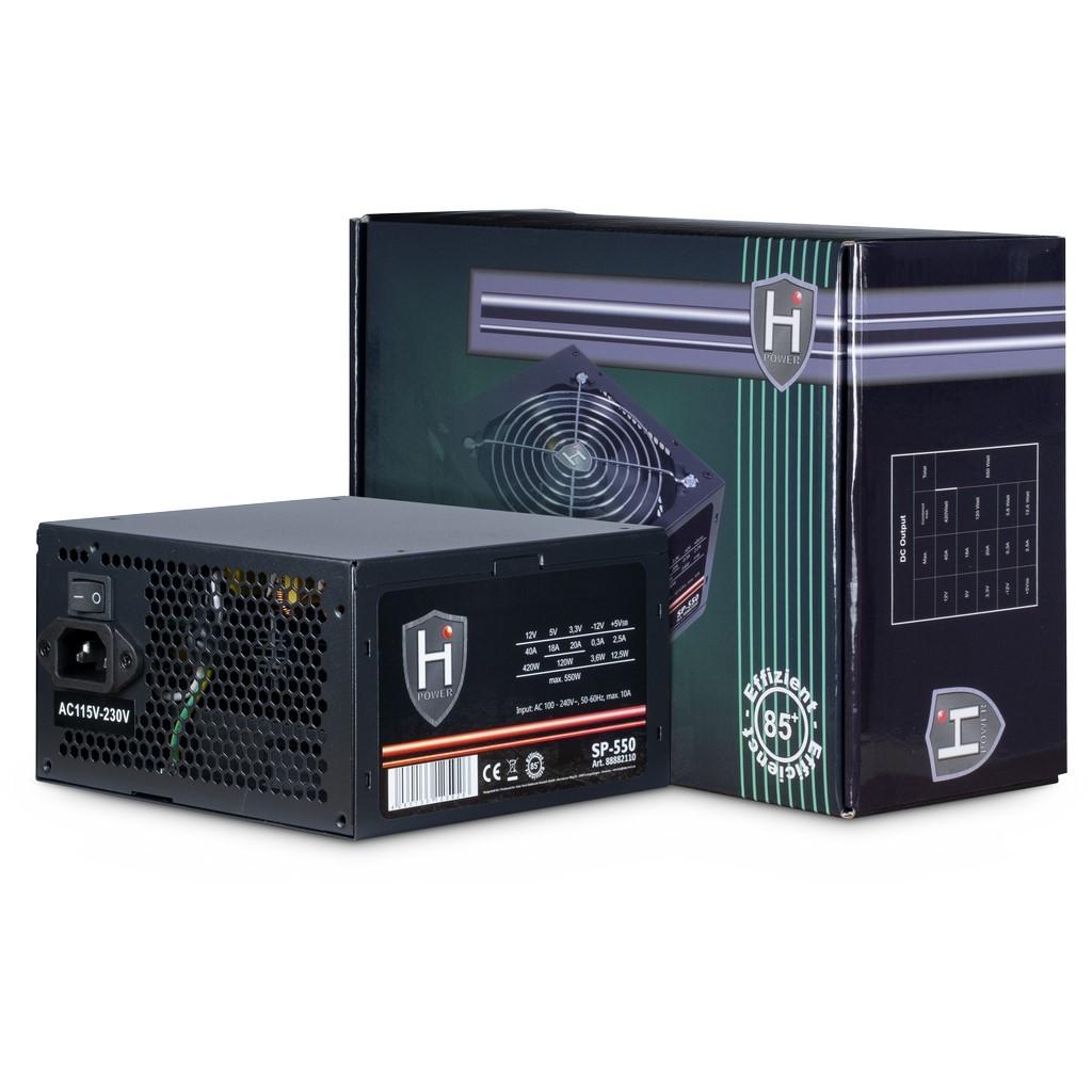 Inter-Tech HIPOWER SP-550 power supply unit 550 W 20+4 pin ATX ATX Zwart