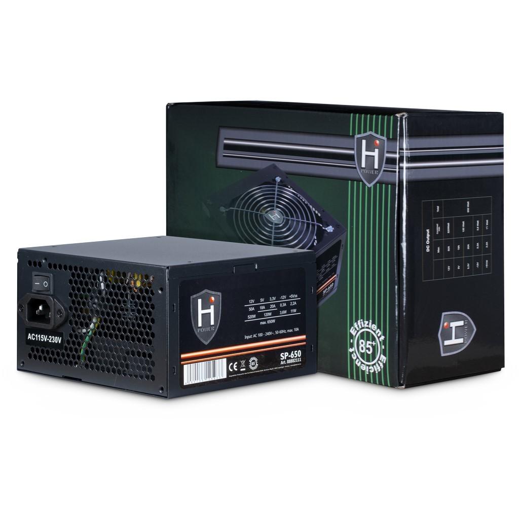Inter-Tech HIPOWER SP-650 power supply unit 650 W 20+4 pin ATX ATX Zwart