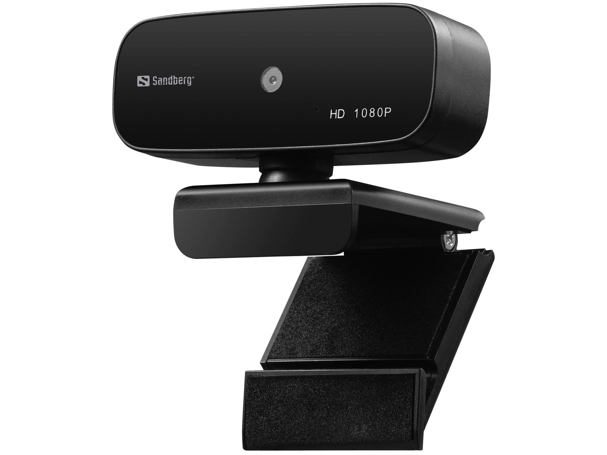 Sandberg 134-14 webcam 2 MP 1920 x 1080 Pixels USB 2.0 Zwart