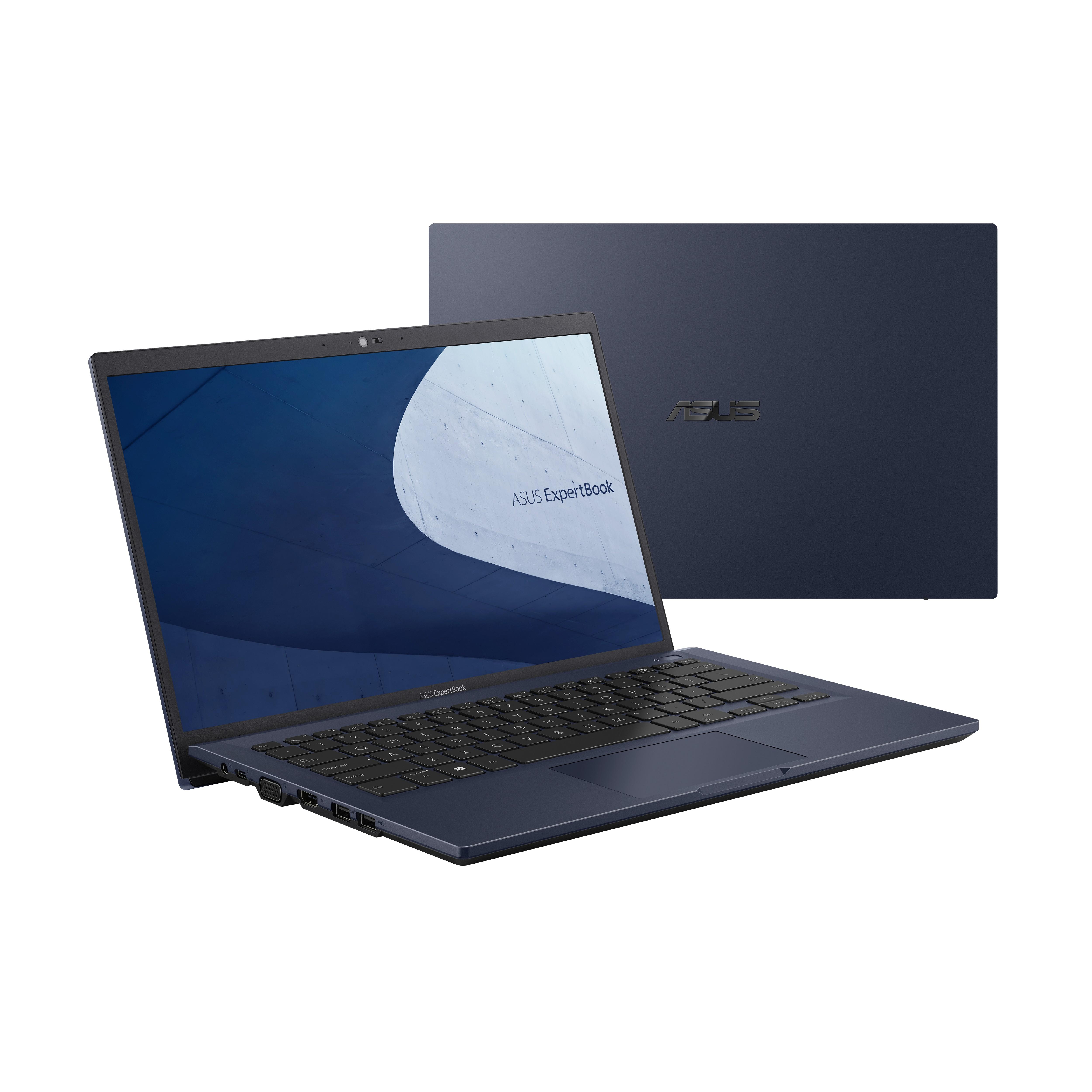 "ASUS ExpertBook B1 B1400CEAE-EK0259R Notebook 35,6 cm (14"") Full HD Intel® 11de generatie Core™ i3 8 GB DDR4-SDRAM 256 GB SSD Wi-Fi 6 (802.11ax) Windows 10 Pro Zwart"