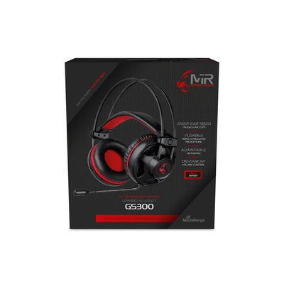 MediaRange MRGS300 hoofdtelefoon/headset Hoofdband USB Type-A Zwart, Rood