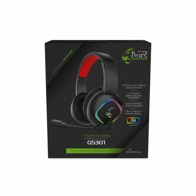 MediaRange MRGS301 hoofdtelefoon/headset Hoofdband Zwart, Rood