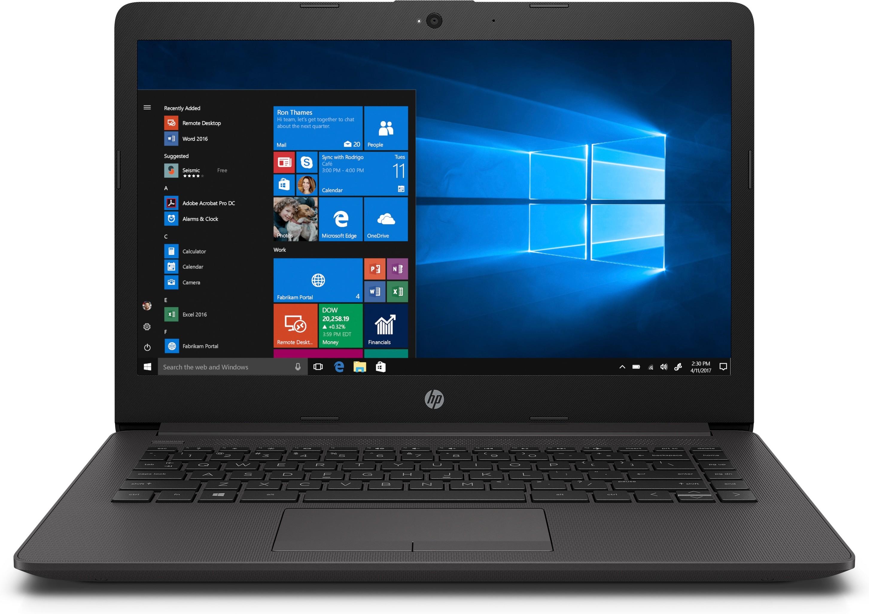 "HP 240 G7 DDR4-SDRAM Notebook 35,6 cm (14"") 1366 x 768 Pixels Intel® Celeron® N 4 GB 128 GB SSD Wi-Fi 5 (802.11ac) Windows 10 Home Zwart, Zilver"