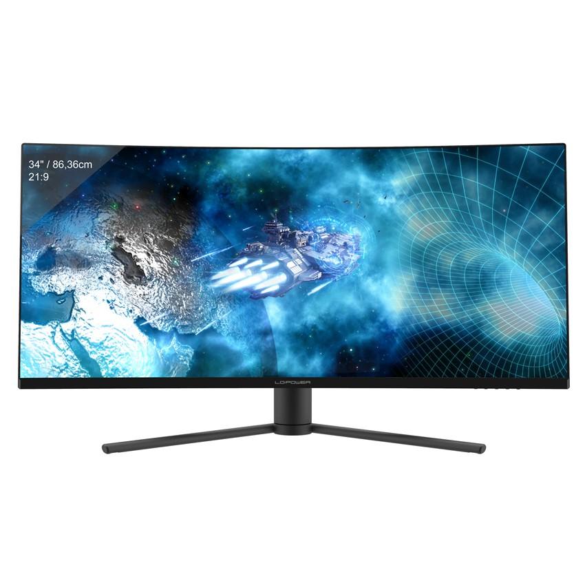 """LC-Power LC-M34-UWQHD-144-C-V2 computer monitor 86,4 cm (34"""") 3440 x 1440 Pixels UltraWide Quad HD LED Zwart"""