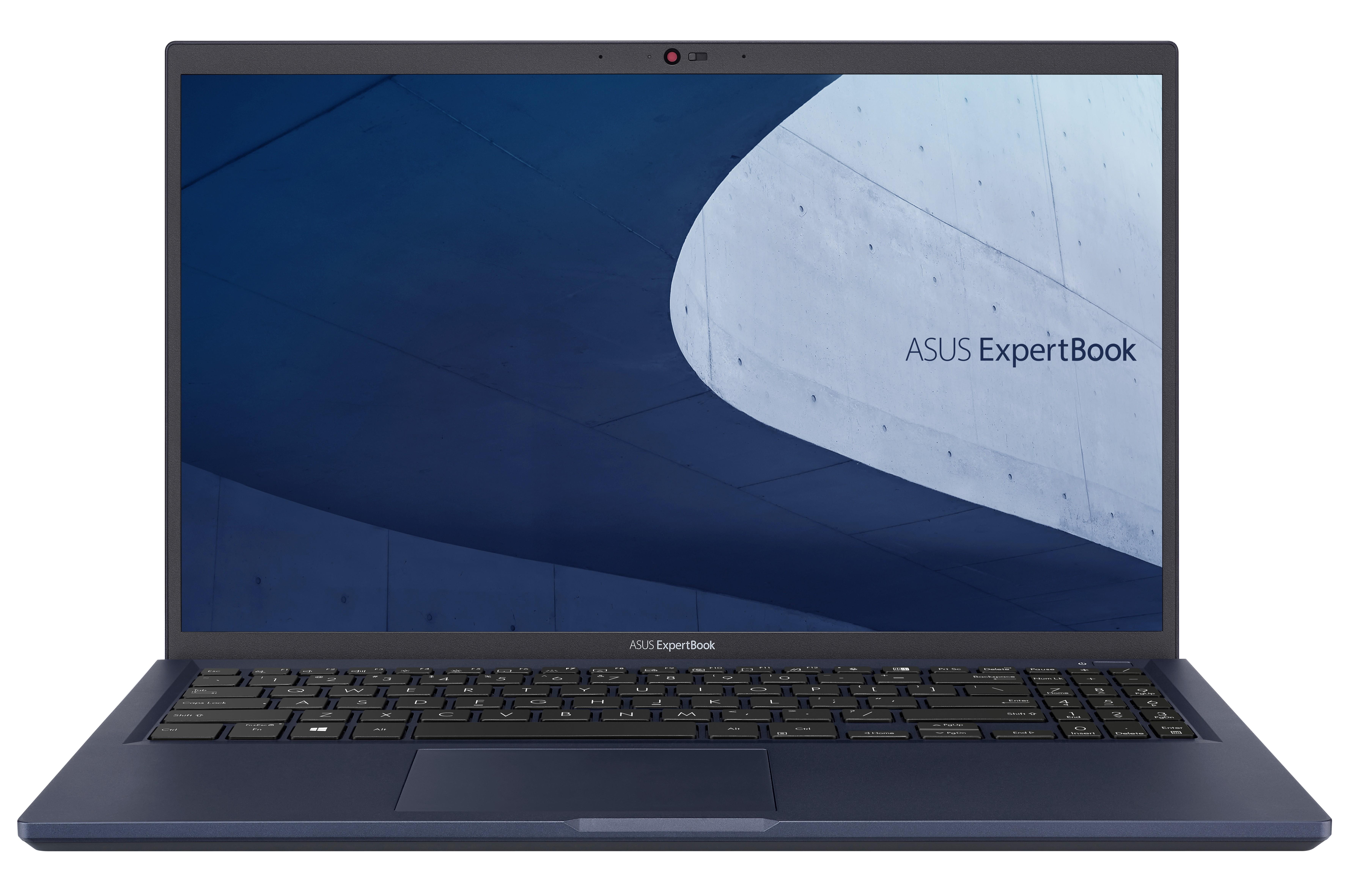 """ASUS ExpertBook B1 B1500CEAE-EJ0345R DDR4-SDRAM Notebook 39,6 cm (15.6"""") 1920 x 1080 Pixels Intel® 11de generatie Core™ i3 8 GB 256 GB SSD Wi-Fi 6 (802.11ax) Windows 10 Pro Zwart"""