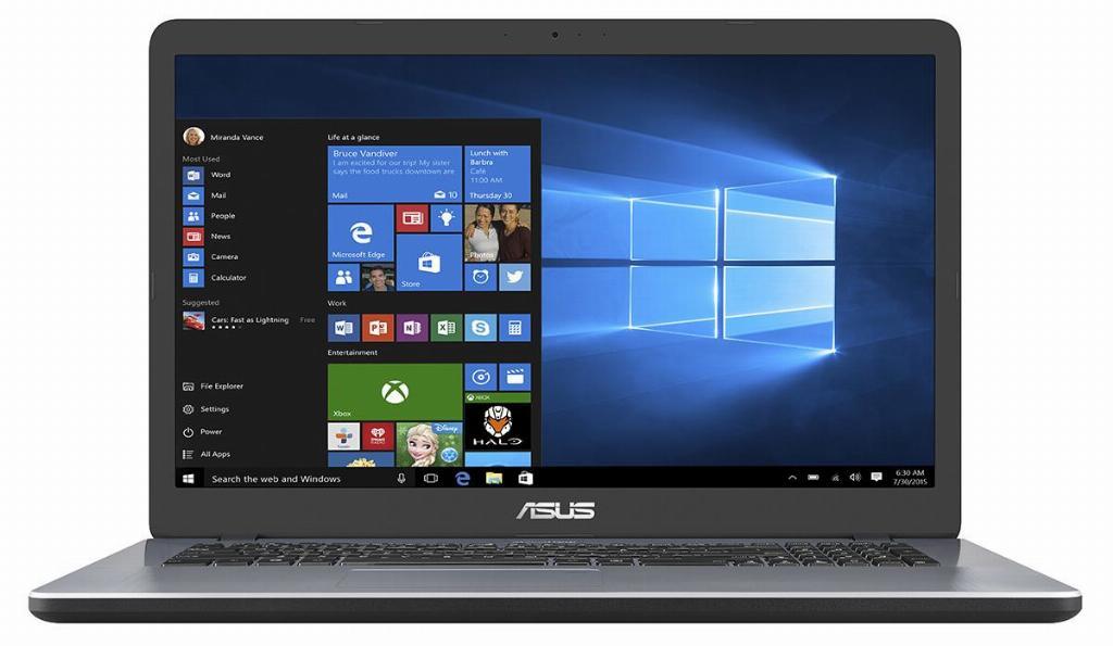 "ASUS VivoBook 17 F705MA(GML-R)-BX189T Notebook 43,9 cm (17.3"") HD+ Intel® Celeron® N 4 GB DDR4-SDRAM 256 GB SSD Windows 10 Home Grijs"