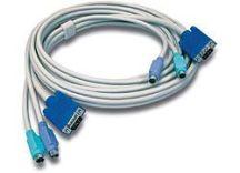 Trendnet TK-C10 toetsenbord-video-muis (kvm) kabel 3,1 m Grijs