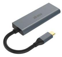 Akasa AK-CBCA19-18BK interface hub USB 3.2 Gen 1 (3.1 Gen 1) Type-C 5000 Mbit/s Aluminium