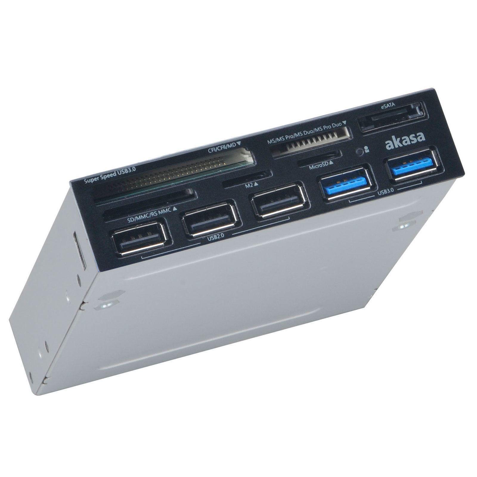 Akasa AK-ICR-17 geheugenkaartlezer USB 3.2 Gen 1 (3.1 Gen 1) Intern Grijs