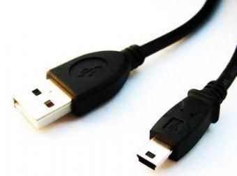 Gembird 1.8m USB 2.0 A/mini-USB M USB-kabel 1,8 m USB A Mini-USB B Zwart