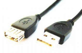 Gembird 1.8m USB 2.0 A M/FM USB-kabel 1,8 m USB A Zwart