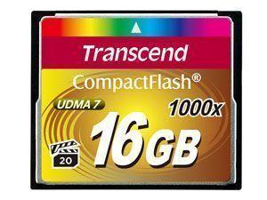 Transcend CompactFlash Card 1000x 16GB flashgeheugen MLC