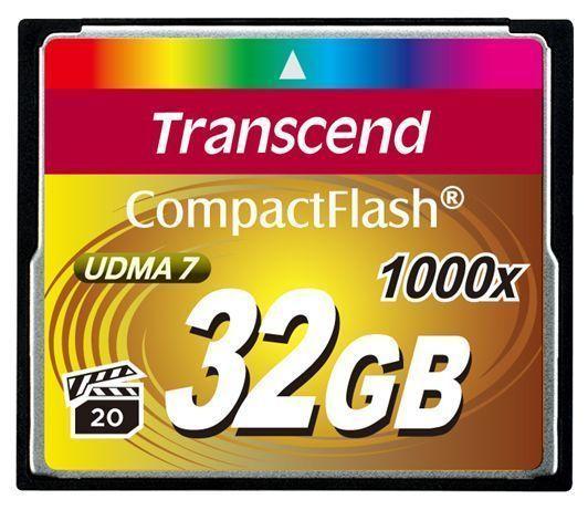 Transcend 1000x CompactFlash 32GB flashgeheugen MLC